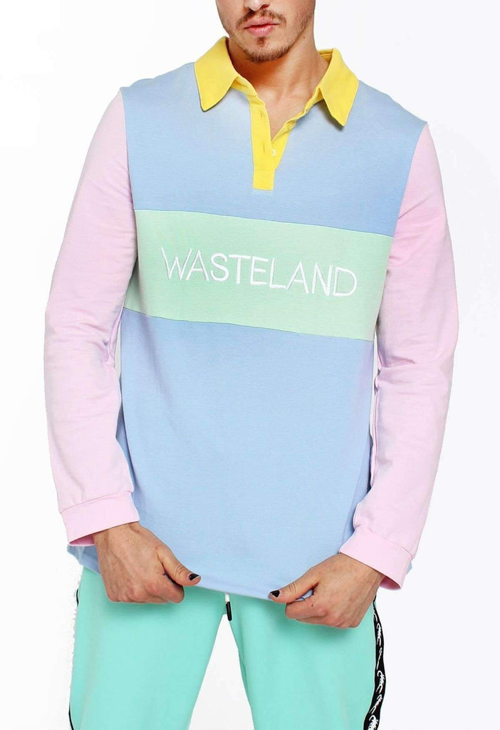 Pastel Picnic Colour Block Wasteland Rugby Polo