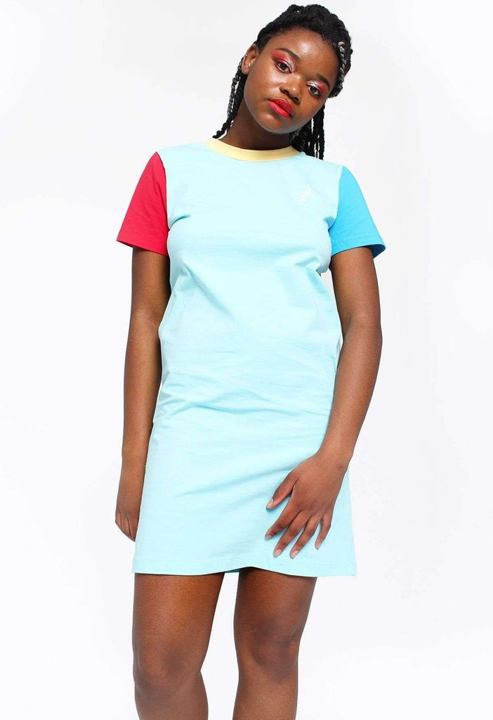 Primary Picnic Colour Block T-Shirt Dress