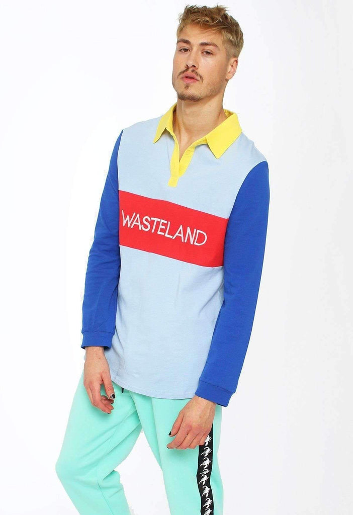 Primary Picnic Colour Block Wasteland Rugby Polo