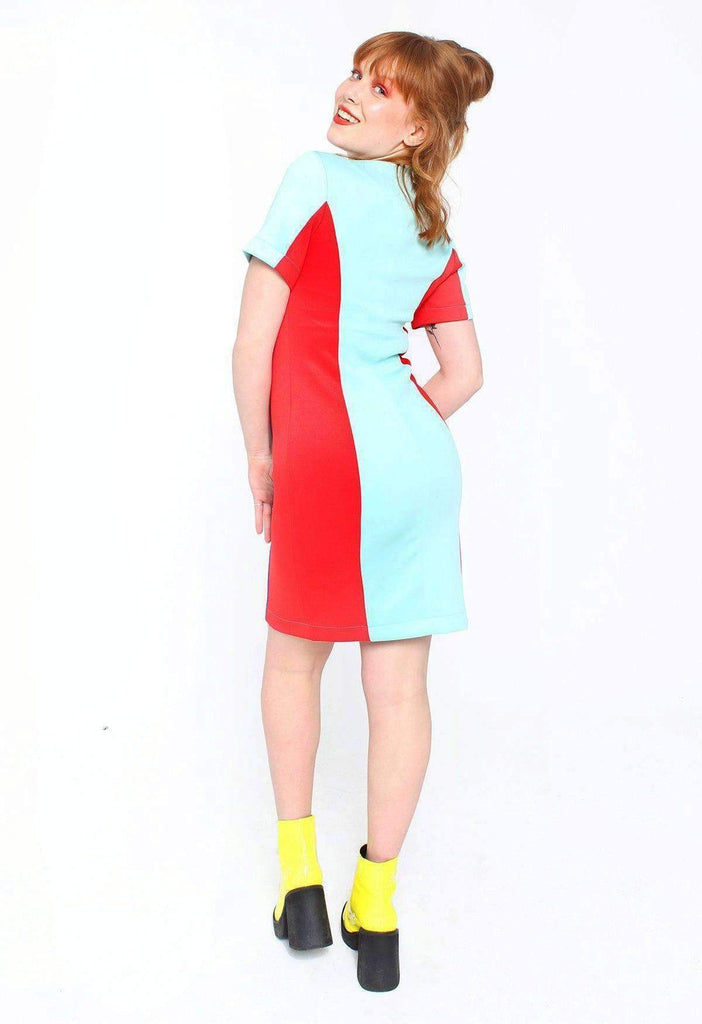 Primary Picnic Colour Block Zip Dress