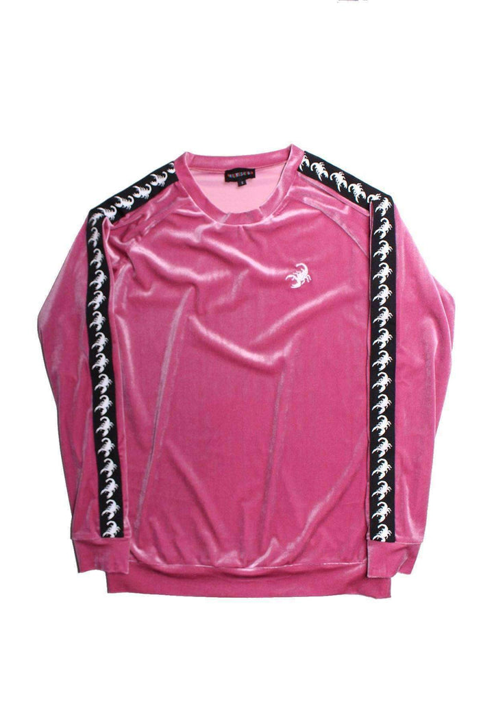 Scorpion Velour Crewneck Rose