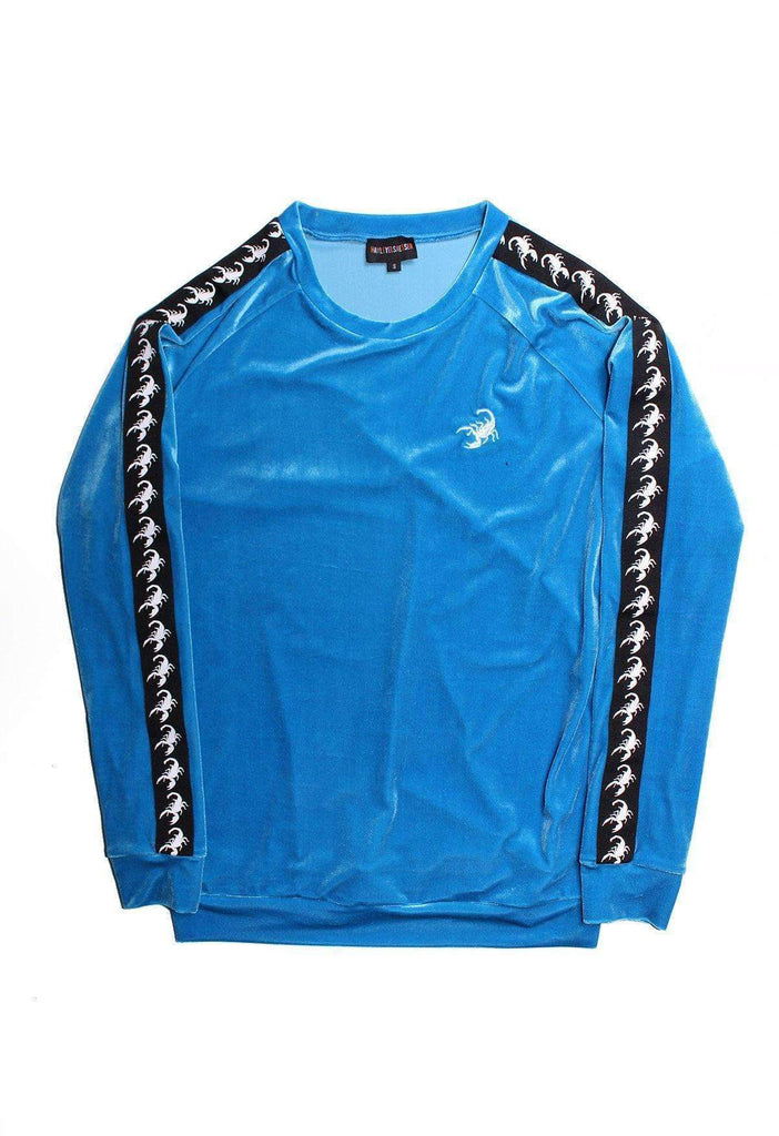 Scorpion Velour Crewneck Sky