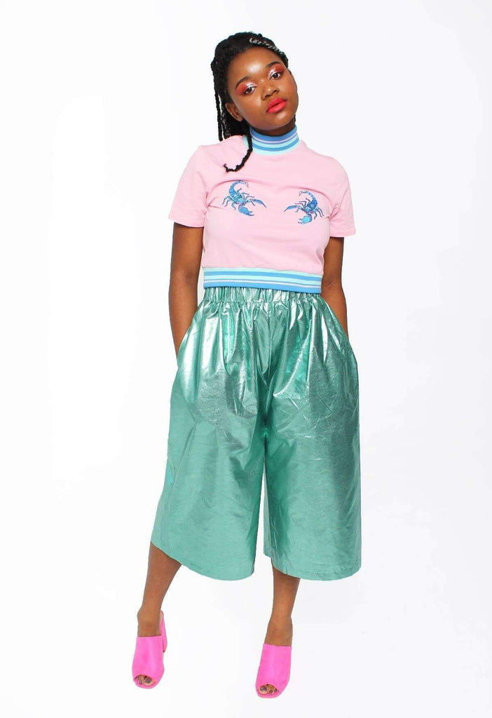 Sea Breeze Metallic Culottes