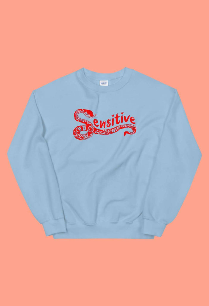Sensitive Snake Crewneck Sweatshirt - HAYLEY ELSAESSER