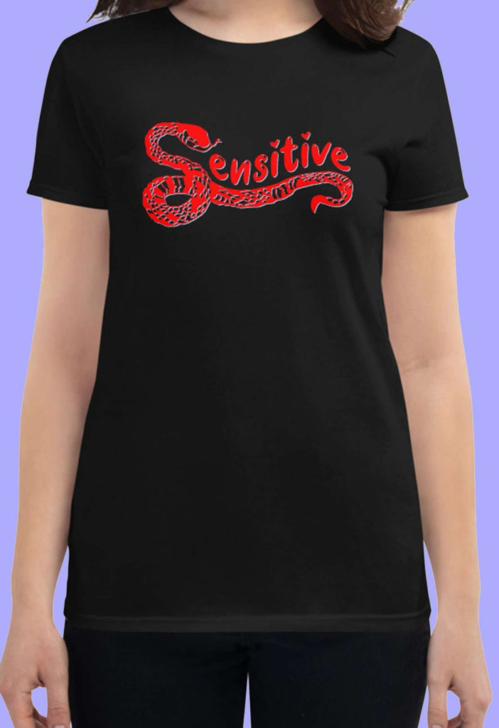 Sensitive Snake Fitted Baby Tee - HAYLEY ELSAESSER