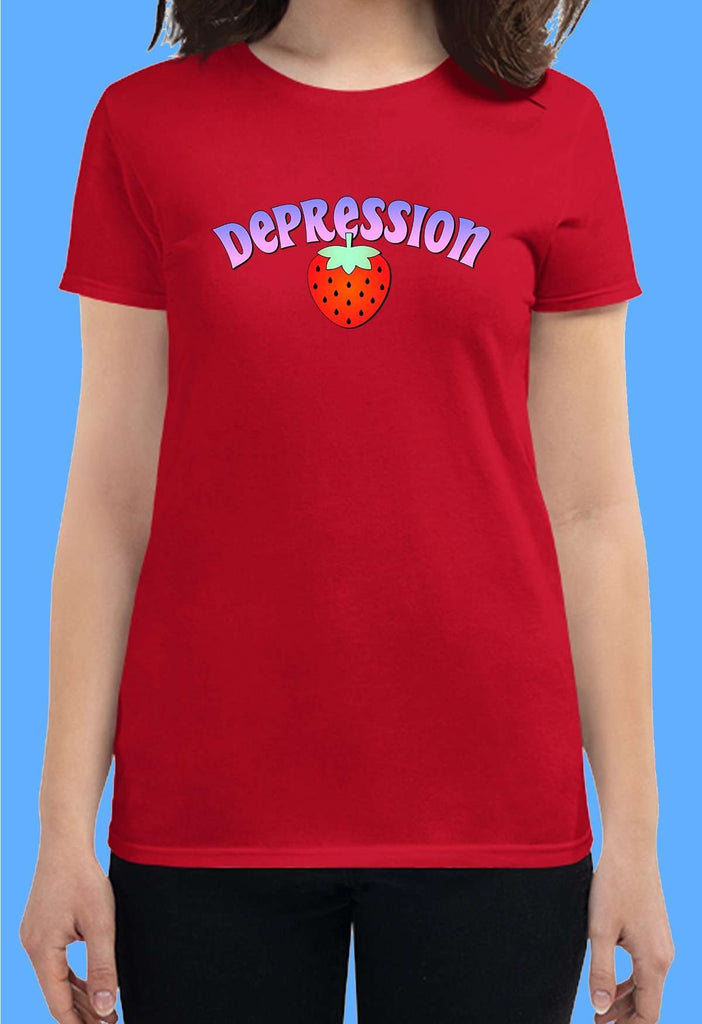 Depression Fitted Baby Tee - HAYLEY ELSAESSER