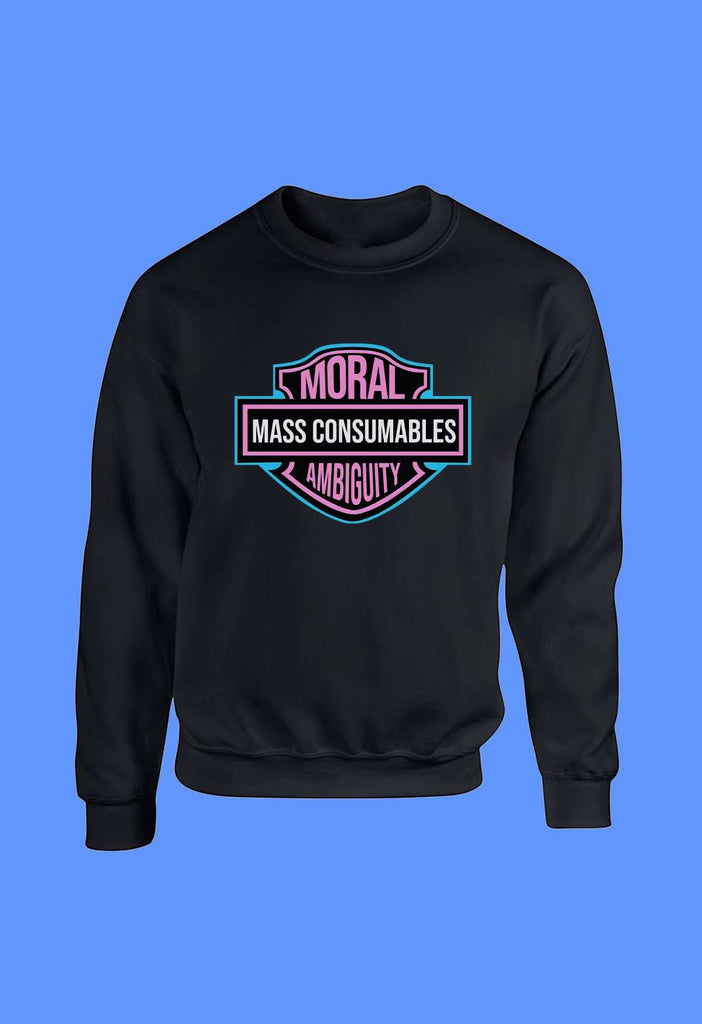 Moral Ambiguity and Mass Consumption Crewneck - HAYLEY ELSAESSER