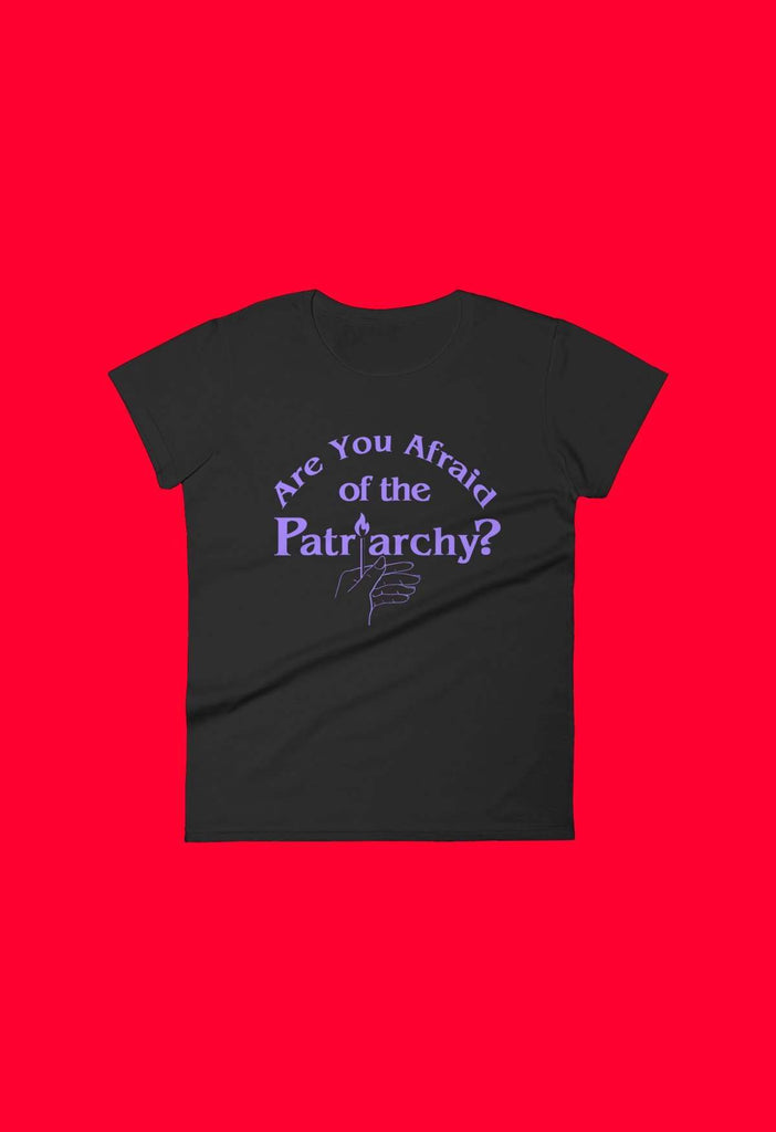 Are You Afraid Of The Patriarchy Fitted Baby Tee - HAYLEY ELSAESSER