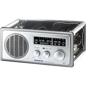 Sangean WR-1CL Analog AM FM Clear Table-Top Radio - iPaces Consumer Electronics