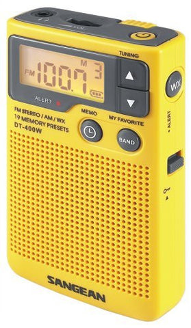 Sangean DT-400W AM/FM Digital Weather Alert Pocket Radio - iPaces Consumer Electronics