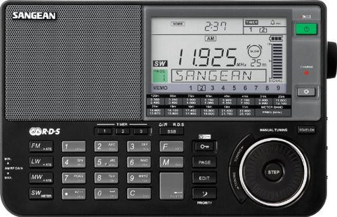 Sangean ATS-909X BK AM/FM/LW/SW World Band Receiver - Black - iPaces Consumer Electronics