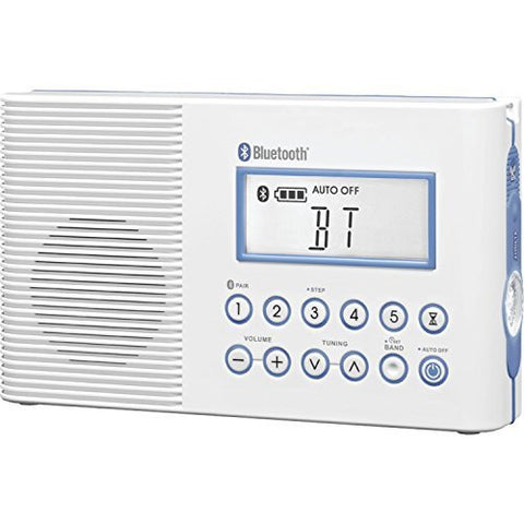 Sangean America, Inc. H-202 Shower Radio with Bluetooth (White) - iPaces Consumer Electronics