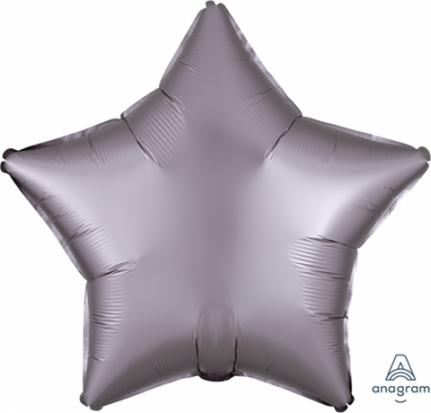 Balloon Foil 45cm Star Satin Greige