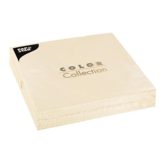 "50 Napkins Cream ""Colour Collection"" Large"