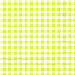 "30 Napkins Lime Green ""Vichy"" Medium"