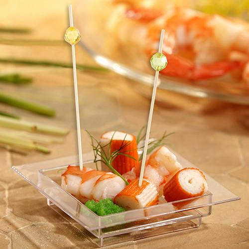 40 Fingerfood skewers 12 cm col