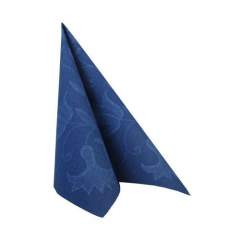 "50 Napkins Dark Blue ""Blue Curl""  ""ROYAL Collection"" Large"