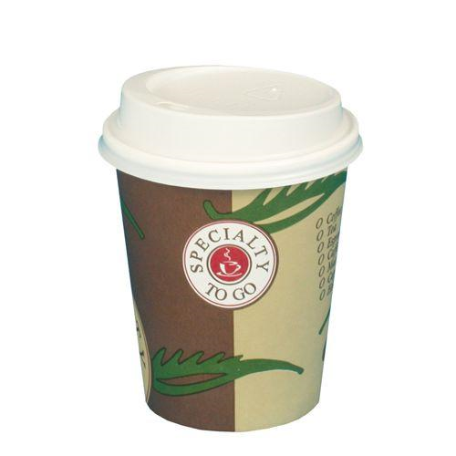"10 Coffee Cups with Lids Paper ""To Go"" 200ml"