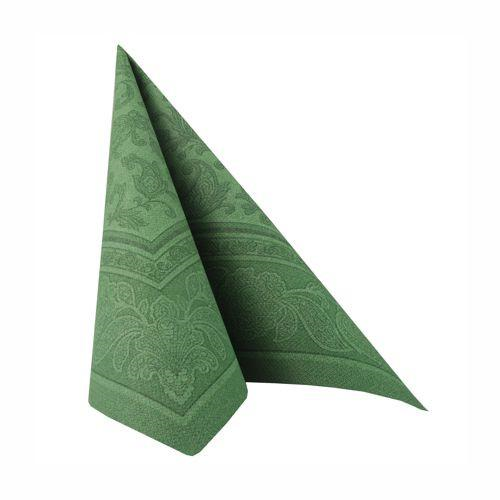 "20 Napkins Dark Green ""Ornaments"" ""ROYAL Collection"" Large"
