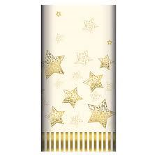 Table Cloth Airlaid 1.2m x 1.8m Sparkling Stars Creme