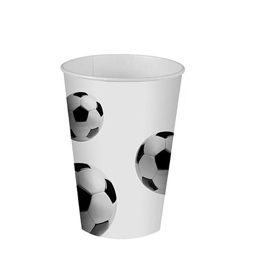 "10 Cups Paper ""Soccer"" 200ml"
