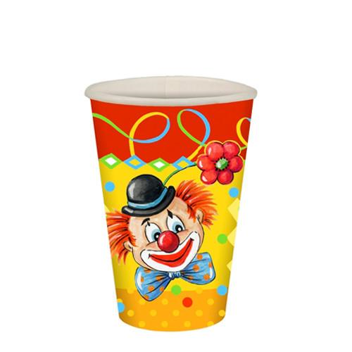 "10 Cups Paper ""Clown"" 200ml"