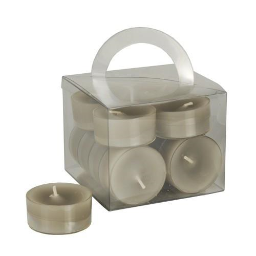 12 Tealights Grey 38 x18 mm