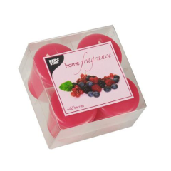 4 Scented Minis 45 mm 52 mm pink Wild Berries