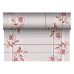 "Table Runner, Cloth like, Tissue Grey ""Berryrose"" ""Royal Collection"" 24m Roll"