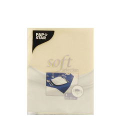 "Tablecloth, cloth-like, nonwoven ""soft selection"" 80 cm x 80 cm cream"
