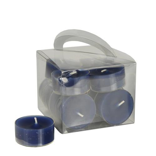 12 Candles Tealight Dark Blue Clear Case