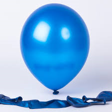 25 Balloons Latex Metallic Blue 30cm