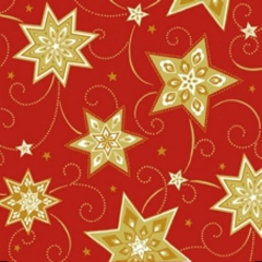 "100 Napkins Red ""Just Stars"" Medium"