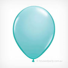 25 Balloons Latex Fashion Caribbean Blue