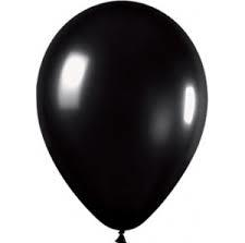 25 Balloons Latex 30cm Black