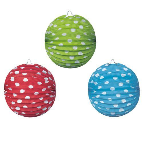 4 Lanterns 21cm 3 Colours Available