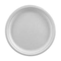 50 Plates Pure not divided 26cm x 2cm White