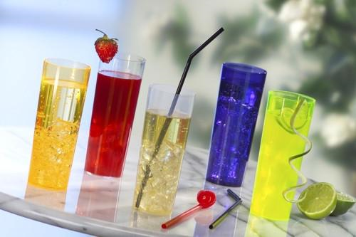 10 Glasses Plastic Longdrink 300ml - Crystal