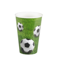 "10 Cups Paper ""Football"" 200ml"