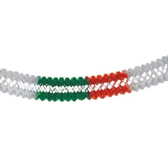 Garland  16 cm 10 green/white/red