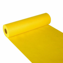 "Table Runner Cloth-like Yellow ""soft selection"" 24m x 40cm Roll"