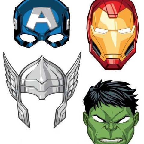 8 Masks Marvel Avengers