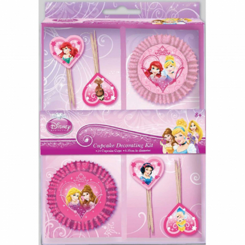 24 Piece Cupcake Decorating Kit Disney Princess
