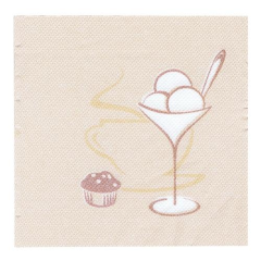 "50 Napkins Champagne ""Cafe"" ""Royal Collection"" Small"