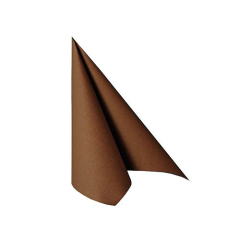 "20 Napkins ""ROYAL Collection"" 1/4 fold 25  x 25 cm Brown"