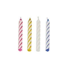 144 Birthday Candles 6cm Assorted Colours