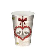 10 Cups Paper Christmas Fascination 200ml