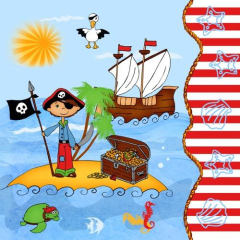 "20 Napkins ""Pirate Island"" Medium"