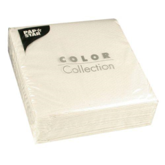 "100 Napkins White ""Colour Collection"" Medium"