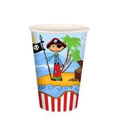 "10 Cups Paper ""Pirate Island"" 200ml"